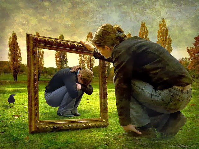 distorted mirror image