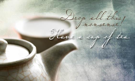 tea meditation quote